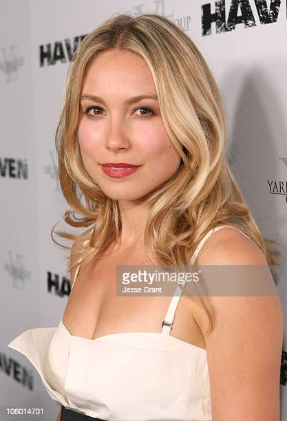 Sarah Carter during 'Haven' Los Angeles Premiere Red Carpet at ArcLight in Hollywood California United States