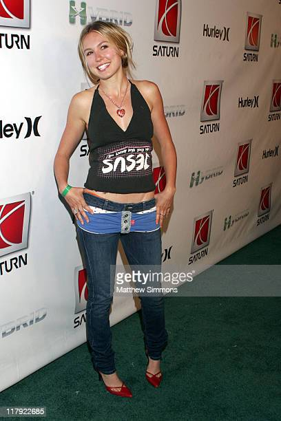 Sarah Carter during Saturn VUE Green Line XGames Kick Off Party Featuring Hurley at Hollywood Blvd in Hollywood California United States