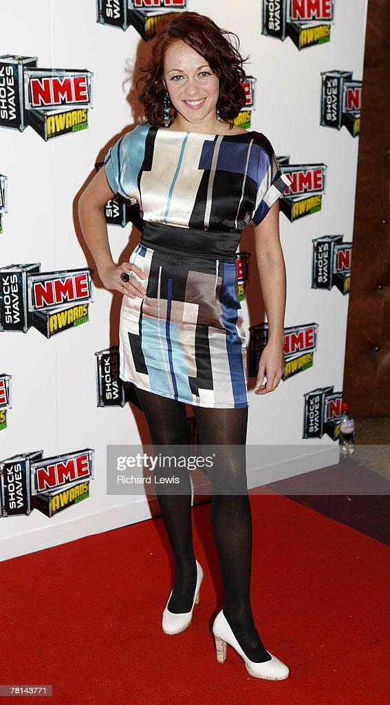 Sarah Cawood arrives at the Shockwaves NME Awards 2007