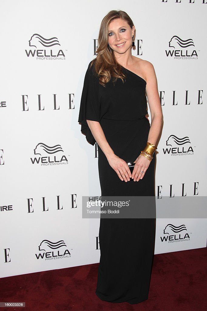 Sarah Chalke attends the ELLE Women in Television Celebration presented by Hearts on Fire Diamonds and Wella Professionals held at Soho House on January 24, 2013 in West Hollywood, California.