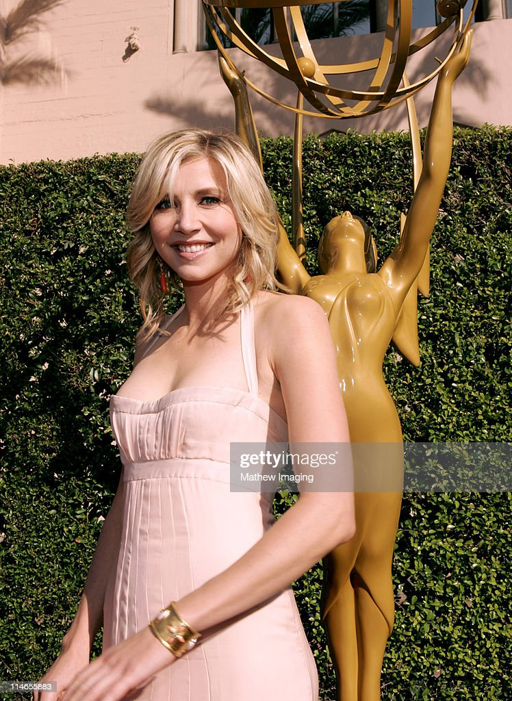 Sarah Chalke during 57th Annual Primetime Creative Arts EMMY Awards Arrivals Red Carpet at Shrine Auditorium in Los Angeles California United States