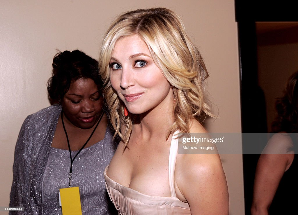 Sarah Chalke during 57th Annual Primetime Creative Arts EMMY Awards Green Room at Shrine Auditorium in Los Angeles California United States