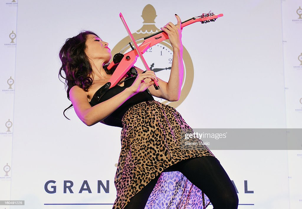 Sarah Charness performs Grand Central Terminal 100th Anniversary Celebration at Grand Central Terminal on February 1, 2013 in New York City.