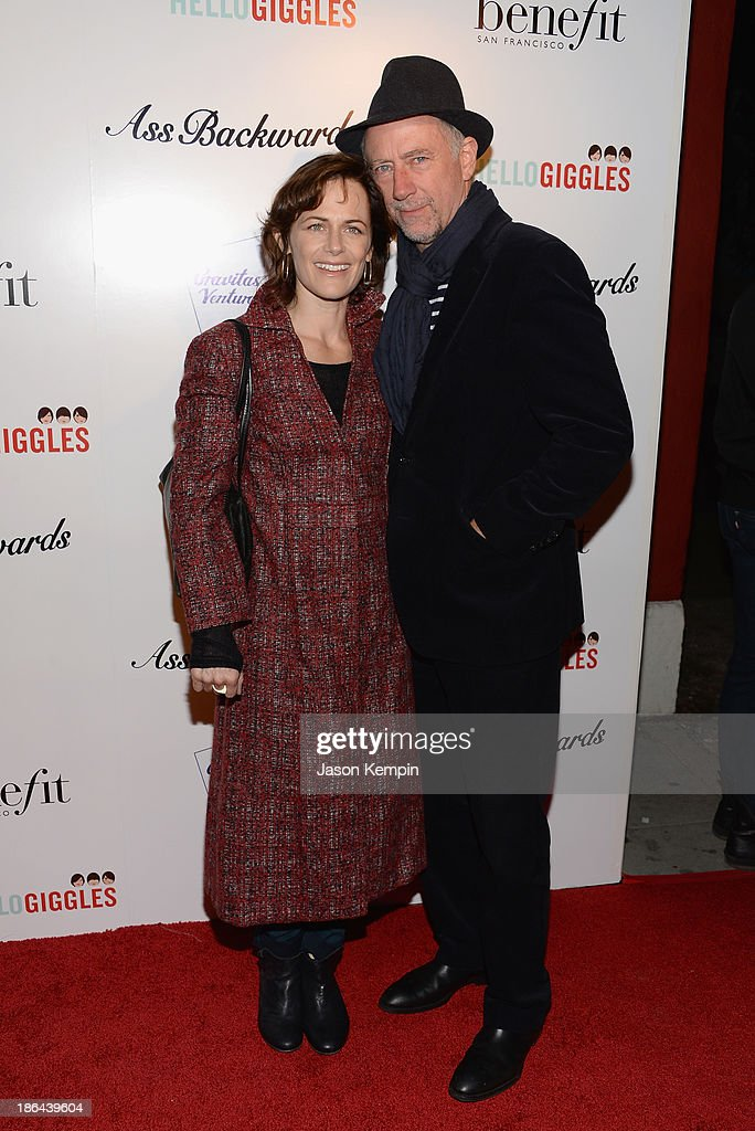 Sarah Clarke and Xander Berkeley attend the premiere of Gravitas Ventures' 'Ass Backwards' at the Vista Theatre on October 30, 2013 in Los Angeles, California.