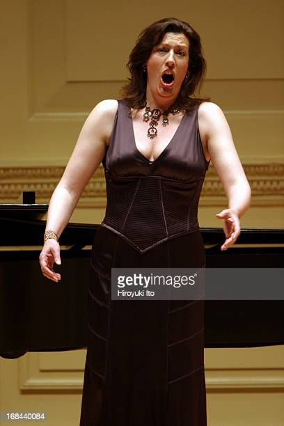 Sarah Connolly mezzosoprano performing at Weill Recital Hall on Monday night May 16 2005Eugene Asti accompanies her on pianoThis imageSarah Connolly...