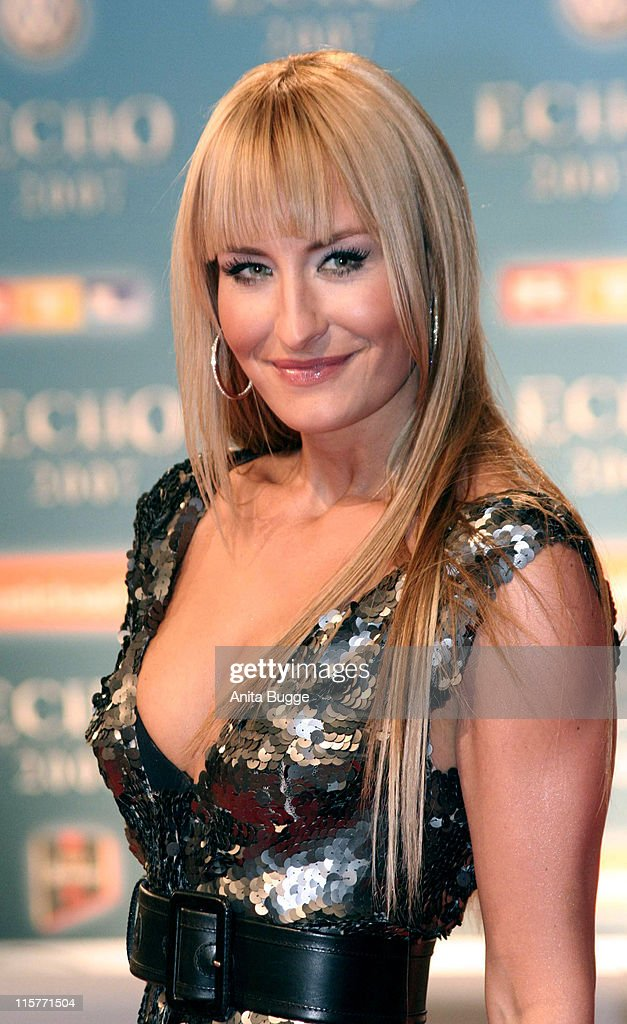 Sarah Connor during 2007 Echo Awards Red Carpet at Palais am Funkturm in Berlin Berlin Germany