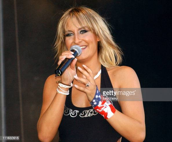 Sarah Connor during '40 Principales' Pop Festival at King Juan Carlos Park in Madrid Spain