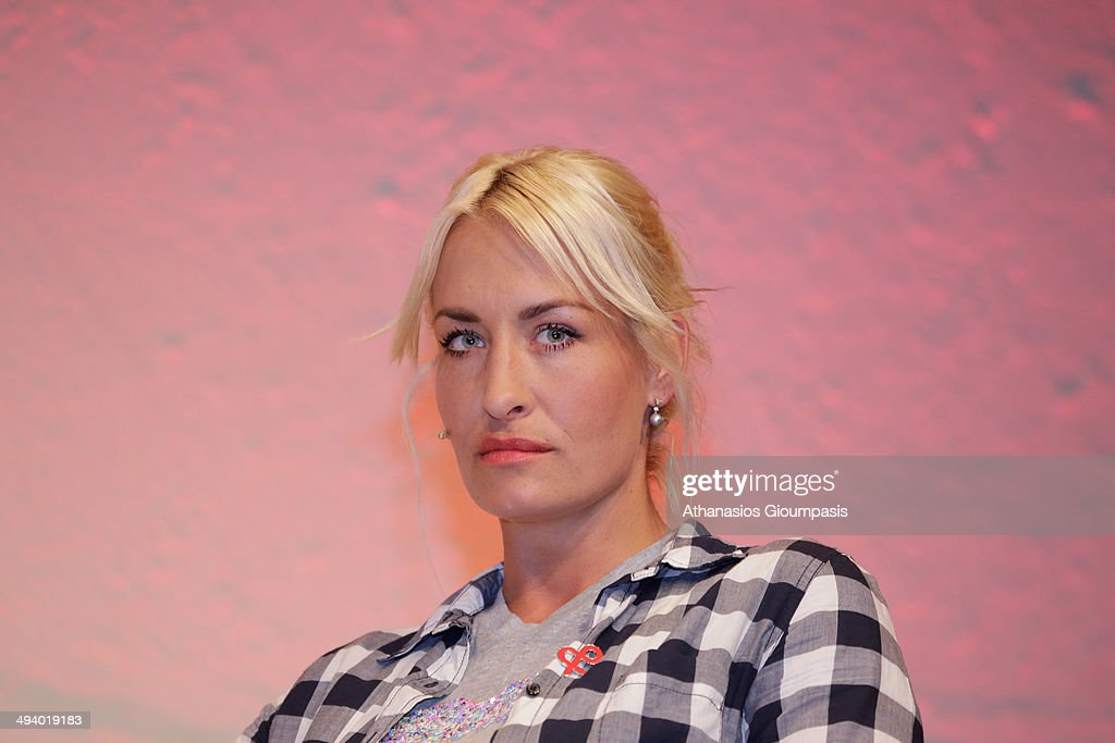 Sarah Connor German singer songwriter and television personality at the program presentation of the World Blood Cancer Day on May 27 2014 in Berlin...