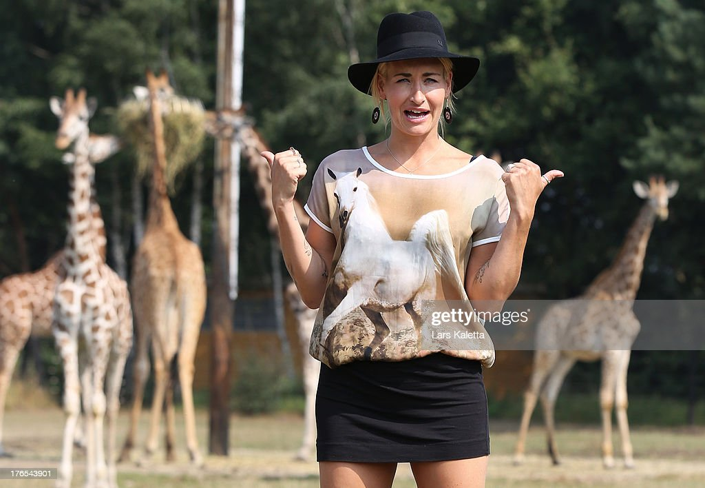 <a gi-track='captionPersonalityLinkClicked' href=/galleries/search?phrase=Sarah+Connor&family=editorial&specificpeople=220670 ng-click='$event.stopPropagation()'>Sarah Connor</a> is seen at Serengeti Park on August 15, 2013 in Hodenhagen, Germany.