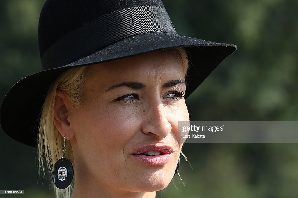 <a gi-track='captionPersonalityLinkClicked' href=/galleries/search?phrase=Sarah+Connor&family=editorial&specificpeople=220670 ng-click='$event.stopPropagation()'>Sarah Connor</a> looks on at Serengeti Park on August 15, 2013 in Hodenhagen, Germany.