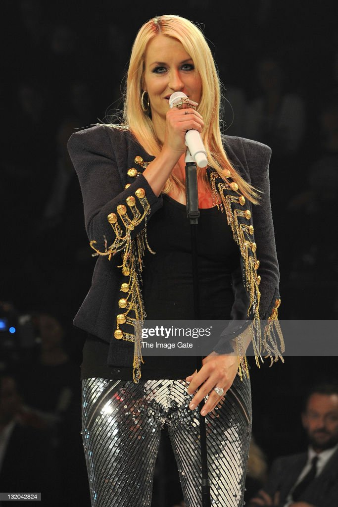 Sarah Connor performs during the first day of the Charles Voegele Fashion Days on November 9 2011 in Zurich Switzerland