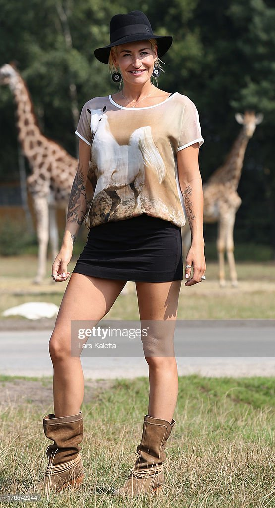 <a gi-track='captionPersonalityLinkClicked' href=/galleries/search?phrase=Sarah+Connor&family=editorial&specificpeople=220670 ng-click='$event.stopPropagation()'>Sarah Connor</a> poses at Serengeti Park on August 15, 2013 in Hodenhagen, Germany.