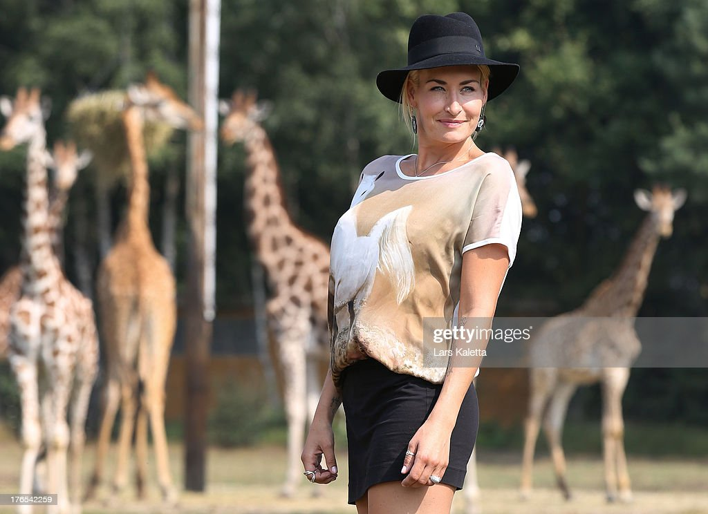 Sarah Connor poses at Serengeti Park on August 15 2013 in Hodenhagen Germany