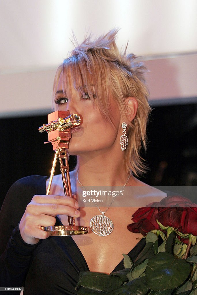 Sarah Connor winner of the Pop National prize during 40th Annual Golden Kamera Awards at Axel Springer House in Berlin Germany
