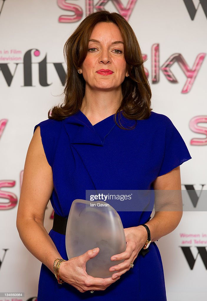 Sarah Cooper poses with her 'Barclays Corporate Business Award' during the Women In Film And TV Awards 2011 annual ceremony celebrating the accomplishments of women working in the film and television industries at the Hilton Park Lane on December 2, 2011 in London, England.