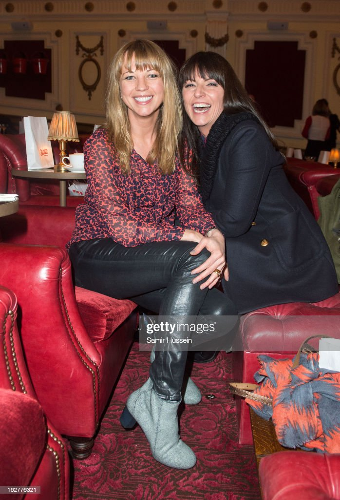 Sarah Cox (L) and Davina McCall attend the private screening of Mary & Martha, hosted by Emma Freud at the Electric Cinema on February 26, 2013 in London, England. The film, by Richard Curtis, which airs on BBC1 on Friday 1st March at 8.30pm stars Hilary Swank as Mary and Brenda Blethyn as Martha, an American and and Englishwoman who have little in common apart from the tragedy of losing a son to malaria, that unexpectedly brings them together.