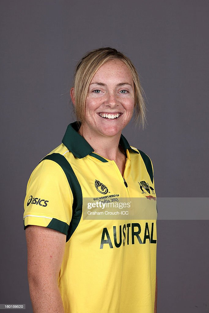 Sarah Coyte of Australia attends a portrait session ahead of the ICC Womens World Cup 2013 at the Taj Mahal Palace Hotel on January 27, 2013 in Mumbai, India.
