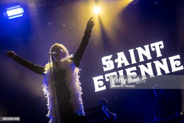Sarah Cracknell of English alternative dance band Saint Etienne performs on stage during Primavera Sound Festival 2017 Day 1 at Parc del Forum on May...