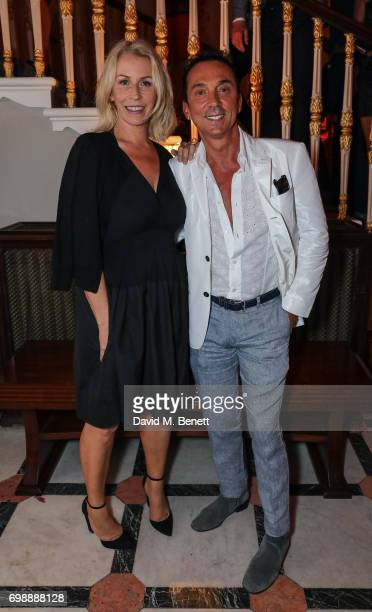 Sarah Dallin and Bruno Tonioli attend the press night performance of 'Bat Out Of Hell The Musical' at The London Coliseum on June 20 2017 in London...