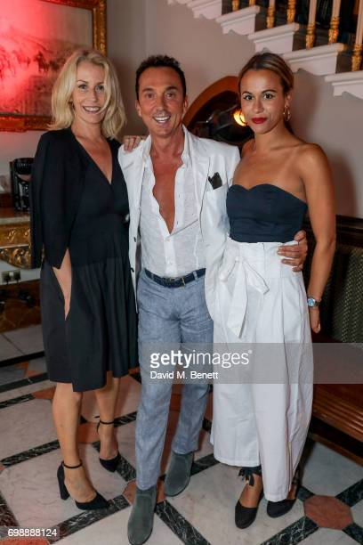 Sarah Dallin Bruno Tonioli and Alice Dallin attend the press night performance of 'Bat Out Of Hell The Musical' at The London Coliseum on June 20...