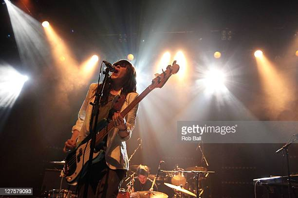 Sarah Daly from Scanners supports the Boxer Rebellion at Shepherds Bush Empire on September 29 2011 in London England