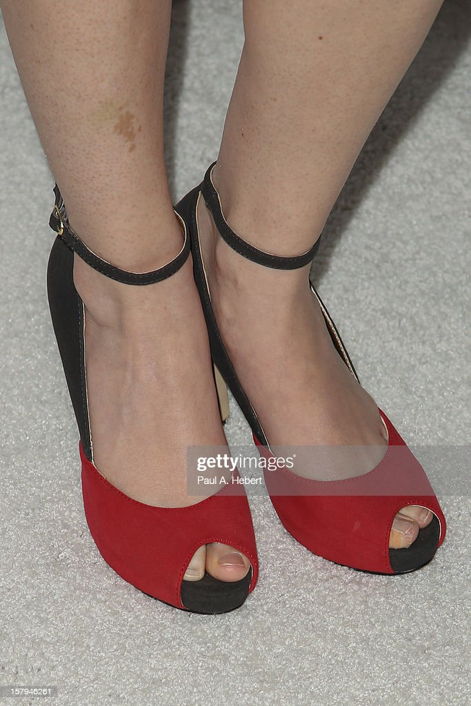 Sarah Drew (shoe detail) arrives at the March Of Dimes' Celebration Of Babies held at the Beverly Hills Hotel on December 7, 2012 in Beverly Hills, California.