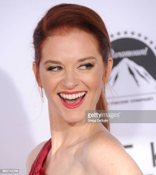 Sarah Drew arrives at the premiere of Paramount Pictures and Pure Flix Entertainment's 'Same Kind Of Different As Me' at Westwood Village Theatre on...