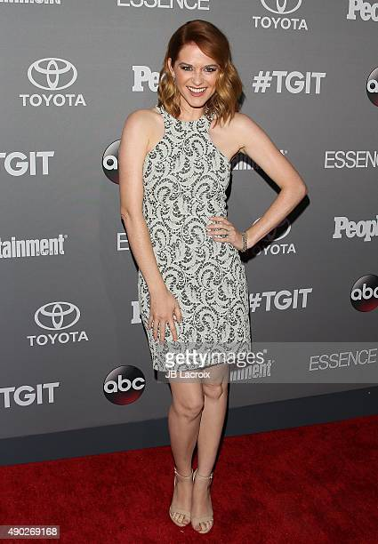 Sarah Drew attends the Celebration of ABC's TGIT Lineup presented by Toyota and cohosted by ABC and Time Inc's Entertainment Weekly Essence and...