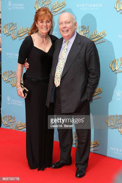 Sarah Duchess of York and Julian Fellows attend the press night performance of 'The Wind In The Willows' at the London Palladium on June 29 2017 in...