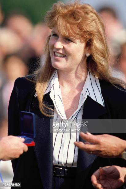 Sarah Duchess of York at Guards Polo Club in Windsor Great Park on September 11 1988 in Windsor England