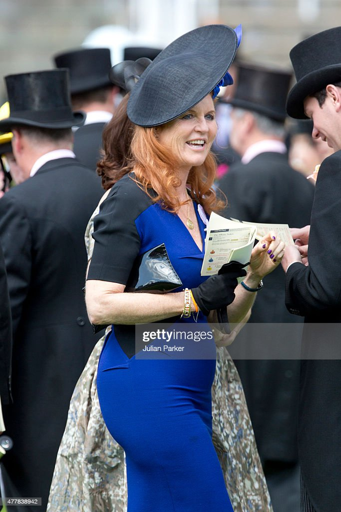 ASCOT, ENGLAND- JUNE 19 Sarah, Duchess of York attends the fourth day of The Royal Ascot race meeting, on June 19th, 2015 in Ascot, England.