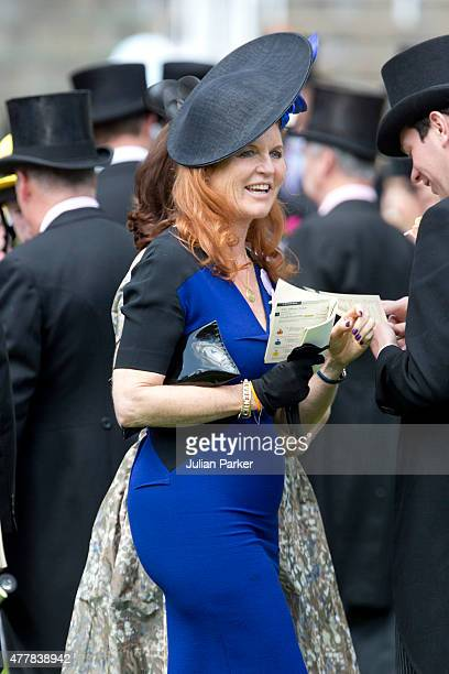 ASCOT ENGLAND JUNE 19 Sarah Duchess of York attends the fourth day of The Royal Ascot race meeting on June 19th 2015 in Ascot England