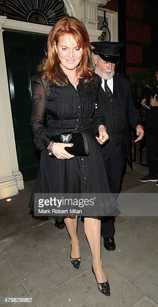 Sarah Duchess of York leaving the Dunhill club on July 7 2015 in London England