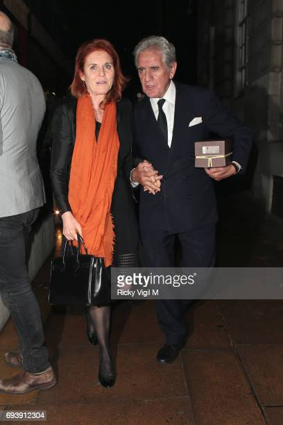Sarah Duchess of York seen on a night out at Loulou's members club in Mayfair on June 8 2017 in London England