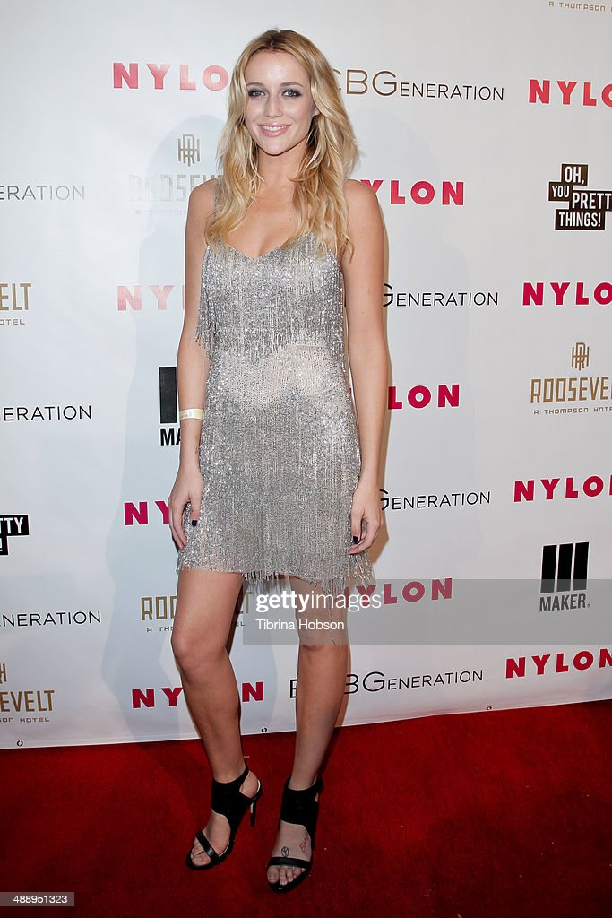 Sarah Dumont attend the Nylon Magazine May young Hollywood issue party at Tropicana Bar at The Hollywood Rooselvelt Hotel on May 8, 2014 in Hollywood, California.