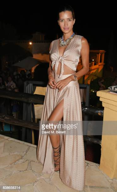 Sarah Duque attends the VIP launch party for FREE WOMEN an exhibition by Diana Gomez opening August 25th and running until the end of September 2017...