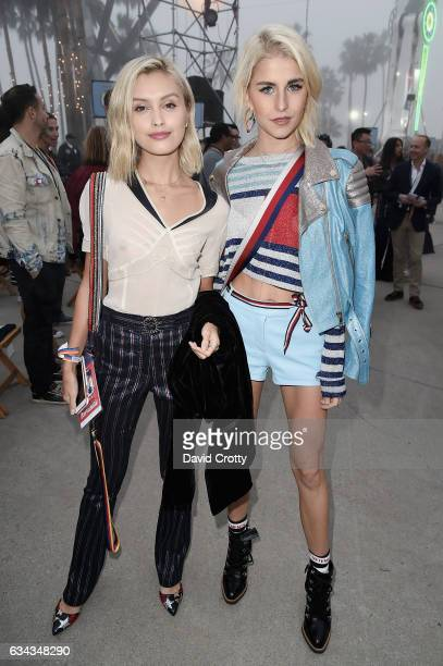 Sarah Ellen and Caroline Daur attend the Tommy Hilfiger Spring 2017 Women's Runway Show Front Row at Windward Plaza on February 8 2017 in Venice...