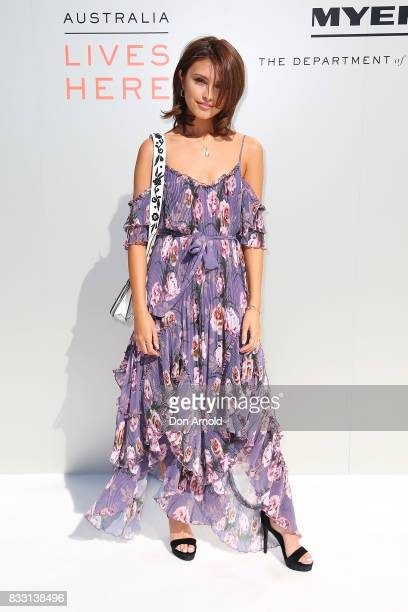 Sarah Ellen at the Myer Spring 2017 Fashion Launch on August 17 2017 in Sydney Australia