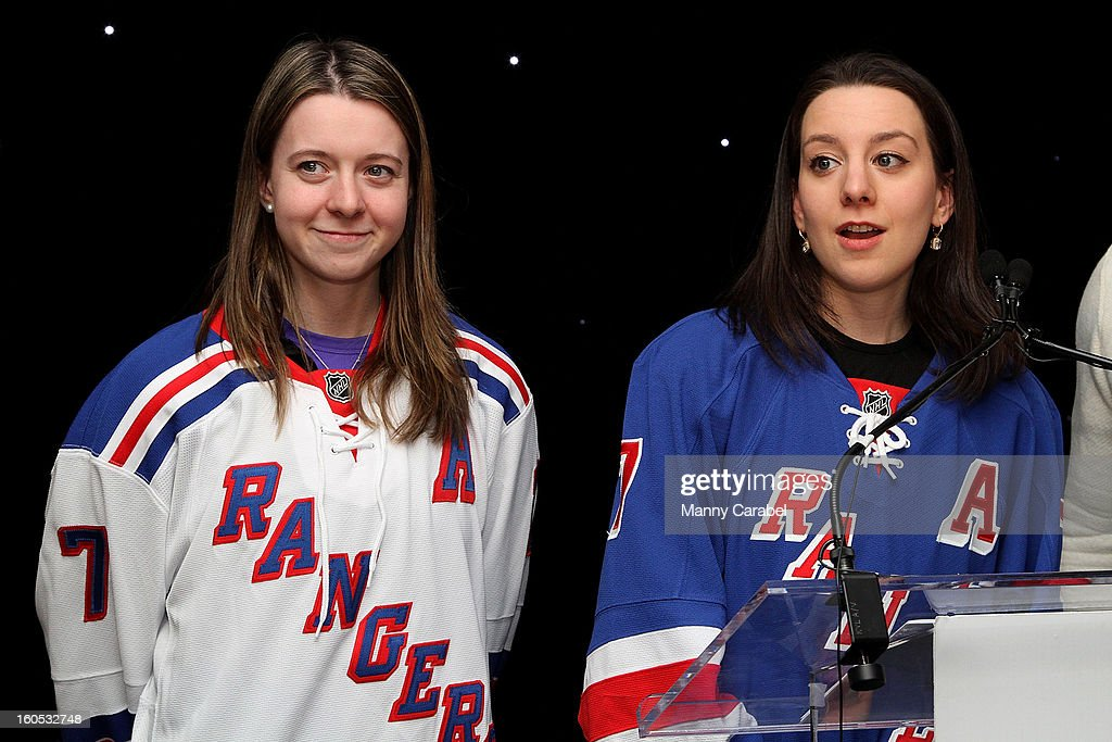 Sarah & Emily Hughes attend The New York Rangers 19th Annual 'Skate With The Greats' Event Benefiting The Ronald McDonald House New York at The Rink at Rockefeller Center on February 1, 2013 in New York City.
