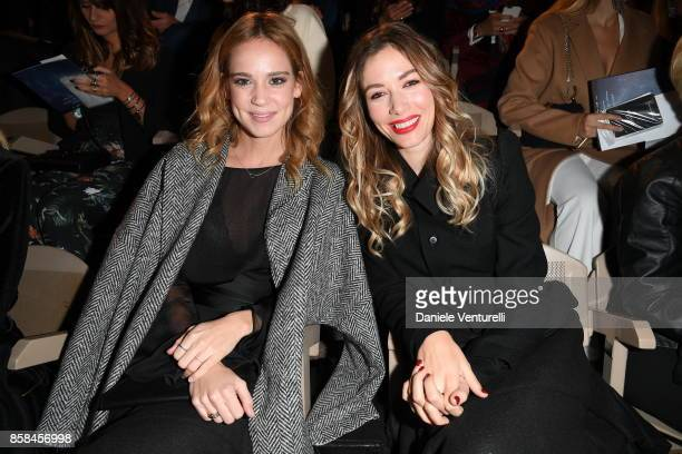 Sarah Felberbaum and Matilde Lutz attends Intimissimi On ice 2017 on October 6 2017 in Verona Italy