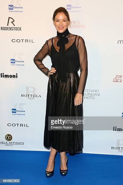 Sarah Felberbaum attends a photocall for the 'RAI Cinema 15th Anniversary' at Auditorium Della Conciliazione on October 29 2015 in Rome Italy