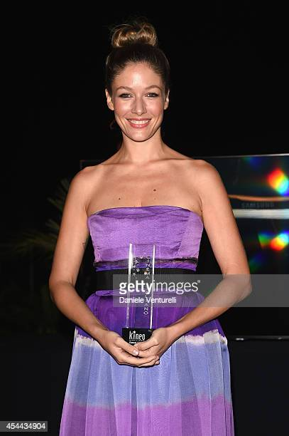 Sarah Felberbaum attends the Kineo Award during the 71st Venice Film Festival on August 31 2014 in Venice Italy