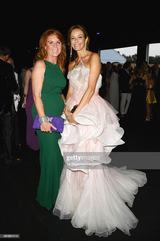 Sarah Ferguson and Carolina Parson attend the Cocktail reception during The Leonardo DiCaprio Foundation 2nd Annual Saint-Tropez Gala at Domaine Bertaud Belieu on July 22, 2015 in Saint-Tropez, France.