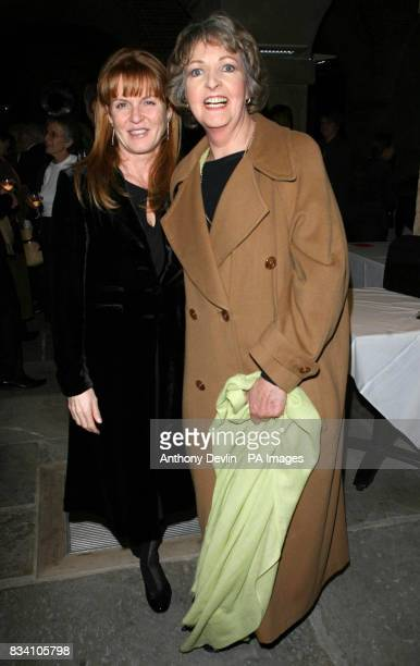 Sarah Ferguson and Penelope Keith pictured during The Importance of Being Earnest after party at the Cafe in the Crypt StMartin in the Fields central...