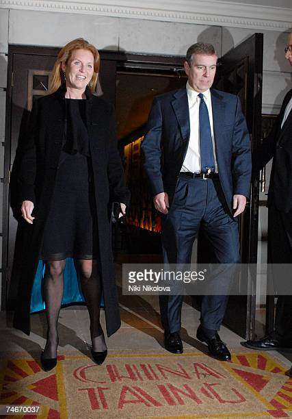 Sarah Ferguson and Prince Andrew at the Prince Andrew and Sarah Ferguson Sighting at China Tang January 15 2007 at China Tang in london
