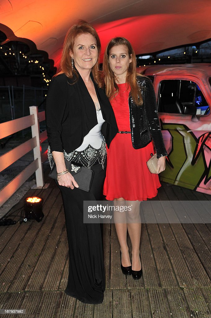 <a gi-track='captionPersonalityLinkClicked' href=/galleries/search?phrase=Sarah+Ferguson+-+Duchess+of+York&family=editorial&specificpeople=160596 ng-click='$event.stopPropagation()'>Sarah Ferguson</a> and Princess Beatrice attend annual fundraiser in aid of Gabrielle's Angel Foundation for Cancer Research at Battersea Power station on May 2, 2013 in London, England.