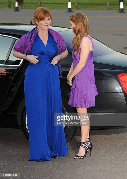 Sarah Ferguson and Princess Beatrice attend The Caudwell Children Butterfly Ball at Battersea Evolution on May 20 2010 in London England