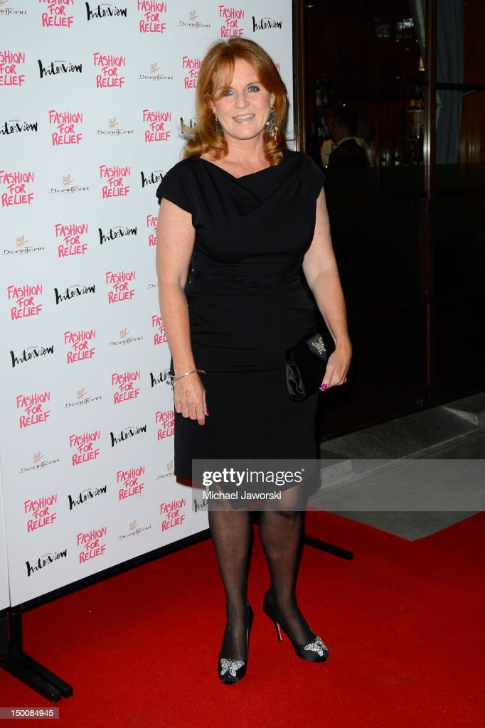 Sarah Ferguson attends Fashion for Relief charity dinner on August 9, 2012 in London, England.
