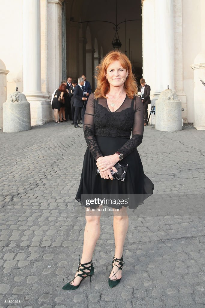 Sarah Ferguson attends the Dinner and Entertainment at Palazzo Colonna as part of the 2017 Celebrity Fight Night in Italy Benefiting The Andrea Bocelli Foundation and the Muhammad Ali Parkinson Center on September 7, 2017 in Rome, Italy.