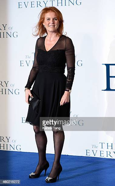 Sarah Ferguson attends the UK Premiere of 'The Theory Of Everything' at Odeon Leicester Square on December 9 2014 in London England